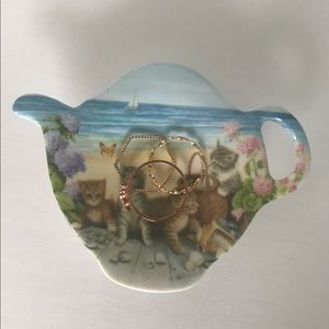 Other - Kitty Cat teapot shaped ring/ jewelry tray holder